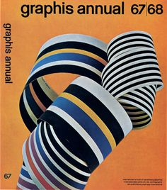 Franco Grignani, cover for Graphis Annual 67/68, Zürich, 1967