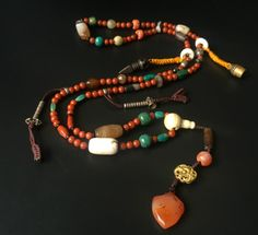 Tibetan Old Agate Beads Necklace