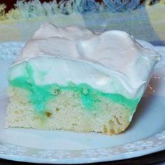 Pistachio Pudding Poke Cake