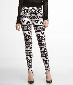 Aztec leggings-love!