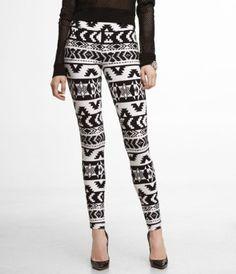 Aztec leggings-love!