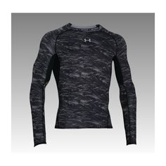 3e3f141b9b22 The Under Armour HeatGear Armour Printed Mens Long Sleeve Compression Base  Layer…