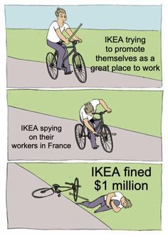 Ikea Fined For Spying On Employees Meme Funny Headlines, Latest News Headlines, Political Ideology, Political News, Monday News, News Memes, Ted Kennedy, Funny Memes, Hilarious