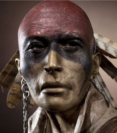 Mohawk hunter-warpaint, inspiratie voor het Lonatho ritueel ...