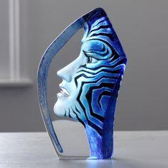 amazona glass handpainted sculpture by mats jonasson - Mats Jonasson Maleras…