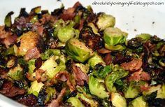 Loving Life: Pan-Fried Brussel Sprouts with Bacon Pan Fried Brussel Sprouts, Cooking Brussel Sprouts, Sprouts With Bacon, Brussel Spouts With Bacon, Brussle Sprouts, Roasted Sprouts, Bacon Recipes, Vegetable Recipes, Cooking Recipes
