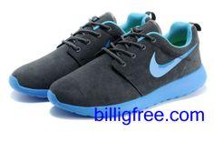 Verkaufen billig Schuhe Damen Nike Roshe Run (Farbe: Vamp - grau, innen, Sohle, Logo - blau) Online in Deutschland.