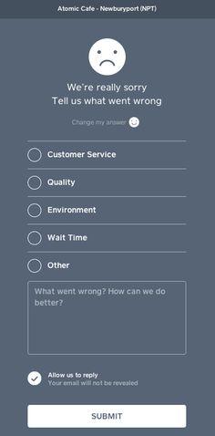 Survey design - In detail Square's email receipt and feedback flow on – Survey design Mobile Ui Design, App Ui Design, User Interface Design, Questionnaire Design, Survey Questionnaire, Survey Design, Email Design Inspiration, Interactive Design, Marketing Digital