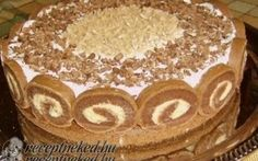 Érdekel a receptje? Hungarian Desserts, Hungarian Recipes, Hungarian Cake, Chestnut Cake Recipe, Cupcake Recipes, Cookie Recipes, Waffle Cake, Torte Cake, Specialty Cakes