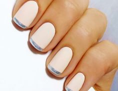 Metallic-tipped French manicure -- perfectly subtle wedding nail art