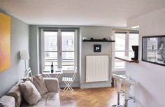 Only 650 per week. Metro Rambuteau and very bright and clean!!