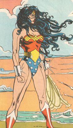 mulher maravilha na praia