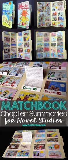 Matchbook Chapter Summaries for Novel Studies • Teacher Thrive