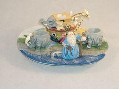 Noah's Ark Miniature Tea Set - Ceramic Resin Collectible Tea Set - Gently Used. $8.00, via Etsy.