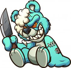 Buy Evil Teddy Bear by memoangeles on GraphicRiver. Scary evil teddy bear holding a big knife clip art. Vector illustration with simple gradients. All in a single layer. Graffiti Art, Graffiti Doodles, Graffiti Cartoons, Dope Cartoons, Graffiti Characters, Graffiti Drawing, Graffiti Lettering, Dope Cartoon Art, Cartoon Kunst