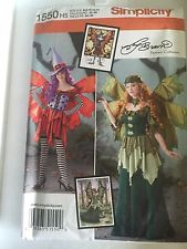 Fairy Costume Pattern Ladies Adult Simplicity Renaissance Size 6 To 14 Witch Too