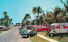 Wow, now that's a trailer park!  Not really...it was really a vacation campground - so, so vintage!