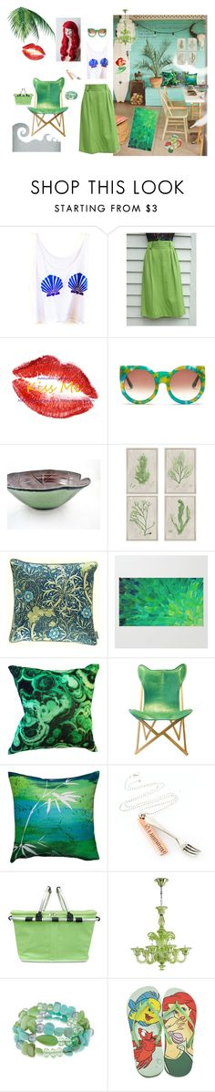 """""""little mermaid"""" by murielhatesyou on Polyvore featuring interior, interiors, interior design, home, home decor, interior decorating, Wildfox, Paragon, William Morris and Maxwell Dickson"""