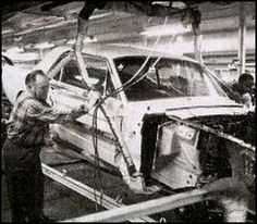 65 Mustang assembly line - Dearborn Mi.