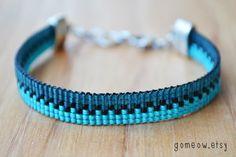 Items similar to Ombre Teal Bracelet // Beaded Loom Bracelet // Adjustable // Friendship Bracelet on Etsy Loom Bracelet Patterns, Bead Loom Bracelets, Bead Loom Patterns, Jewelry Patterns, Pandora Bracelets, Seed Bead Jewelry, Bead Jewellery, Beaded Jewelry, Bead Weaving