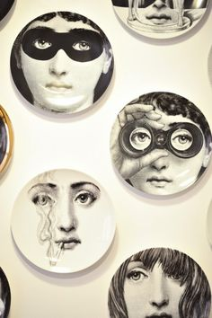 Fornasetti Plates for Dining Room wall
