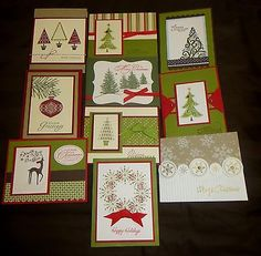 Stampin Up Christmas Cards - Set of 10