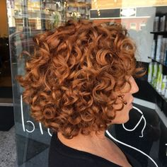 65 Different Versions of Curly Bob Hairstyle - - Short Curly Copper Red Bob. Bob Haircut Curly, Short Curly Haircuts, Curly Hair Cuts, Curly Bob Hairstyles, Long Curly Hair, Short Hair Cuts, Easy Hairstyles, Curly Hair Styles, Natural Hair Styles
