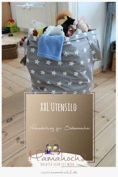 Nähanleitung – XXL Utensilo für das Kinderzimmer