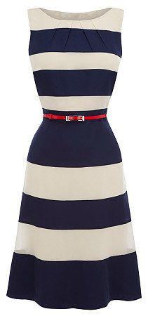 Blue & white dress