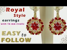 Handmade jewelry - Vintage Swarovski beaded earrings - YouTube