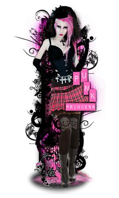 """☠PuNk PriNceSs☠"" by cindu12 ❤ liked on Polyvore featuring art"