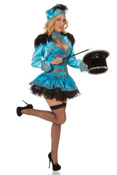 DELUXE BLUE LADY LION TAMER RINGMASTER QUALITY STARLINE COSTUME USHERETTE in Clothes, Shoes & Accessories, Fancy Dress & Period Costume, Fancy Dress | eBay!