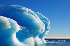 Amazing Nature ~ Frozen Tsunami wave in Antarctica (don't want to go here but is cool)