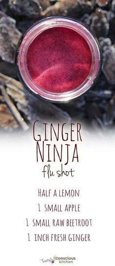 Ginger Ninja Flu Shot Juice