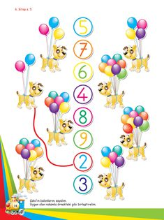 Okul Öncesi Etkinlik Mutlu Çocuklar Sokağı - Ek Kitapçık Preschool Math, Kindergarten, Teacher Assistant, Life Skills, Counting, Worksheets, Education, 1st Grades, Brochures
