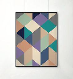 Poster+Mid+Century+Art+print+retro+Print+Poster+by+angelaferrara,+$17.00