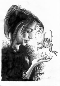 Original illustration by Dave McKean from his movie, Mirrormask