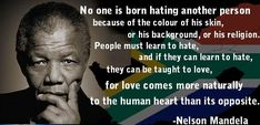 No one is born to hate
