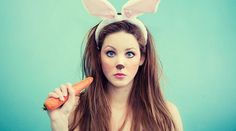 cute bunny makeup for halloween
