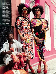 "Vogue Brasil editorial titled ""Carmen Miranda Reloaded"""