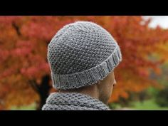 How to knit men's hat - video tutorial with detailed instructions. - YouTube
