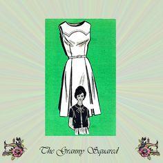 1960s Sleeveless Dress Pattern with Short Sleeve Box Jacket & Yoke Detail, Mail Order Sewing Pattern 4946, Size 18 half size, Bust 39 by TheGrannySquared on Etsy