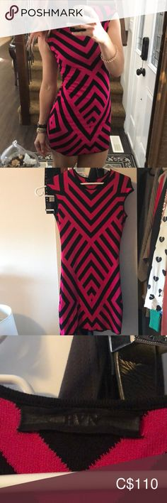 RVN dress To all my Vegas babes. this is the perfect dress! Hot pink and black RVN mini dress 😍 fits like a glove ❤️ Rayon, viscose and nylon RVN Dresses Mini Glove, Vegas, Hot Pink, Bodycon Dress, Best Deals, Mini, Things To Sell, Black, Dresses