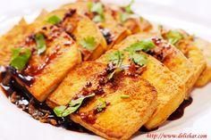 Pan-fried tofu with sweet sauce