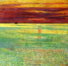""" Sunset at Sea "" 1911 By Frederick Childe Hassam"