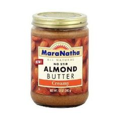 Almond butter <--- OMG THEY HAVE A SPEAD CARAMEL ALMOND .... To die for!!!