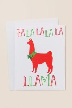 Fa La La Llama Card- gift-cl