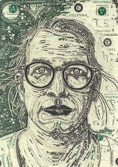 Mark Wagner uses only currency to create pieces of art.