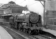 """Helen Warlow on Twitter: """"4pm steamer etc. 70014 Iron Duke, a Britannia Class Pacific photographed at Manchester London Rd , now Piccadilly."""