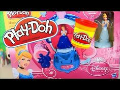 Play Doh Magical Carriage Featuring Disney Princess Cinderella Toy unbox...